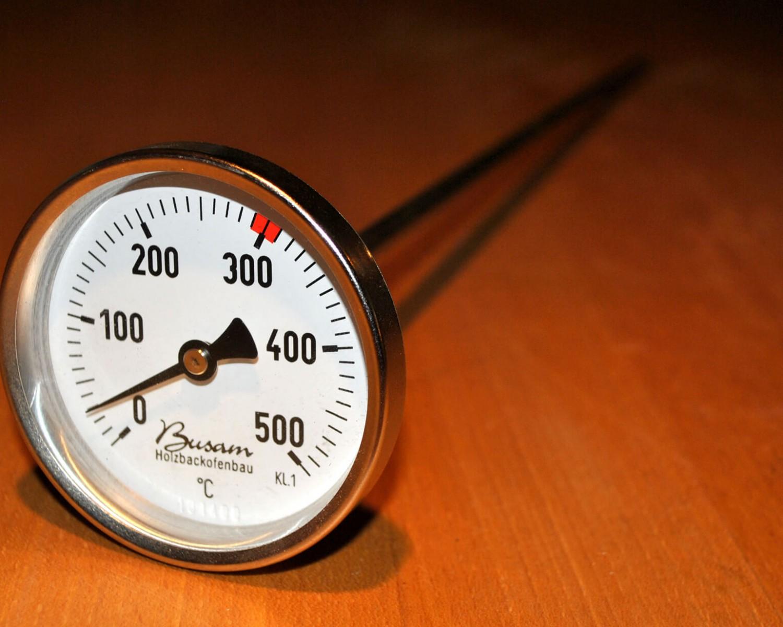 Busam, Holzbackofen, REKORD, Appelt, Holzofenbrot, Pyrometer, Thermometer