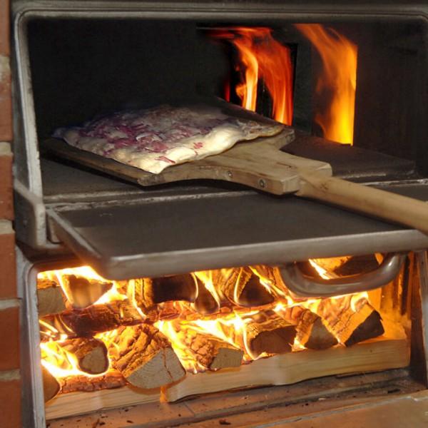 Busam, Holzbackofen, REKORD, Appelt, Flammkuchen, Tarte flambée, Flame cake